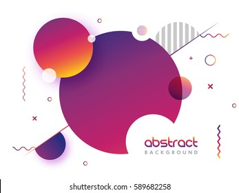 Creative abstract geometric background with glossy circles.