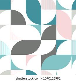 Creative abstract geometrical seamless pattern