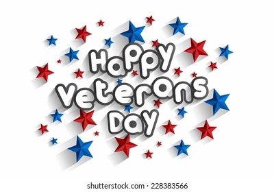 Creative Abstract Happy Veterans Day vector Illustration