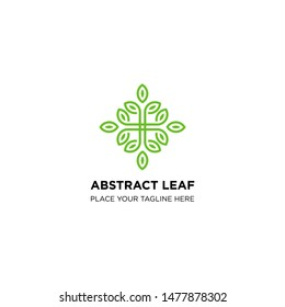creative abstract leave logo templates. boutique leaf designs