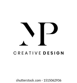 Creative abstract letter MP logo design vector template