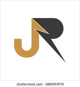 Creative abstract letter rj logo design. Linked letter jr logo design.