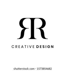 Creative abstract letter RR logo design vector