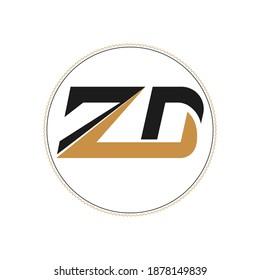 Creative abstract letter zd logo design. Linked letter dz logo design.