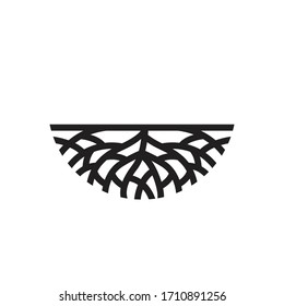 Creative abstract Life root on white background vector logo design template.