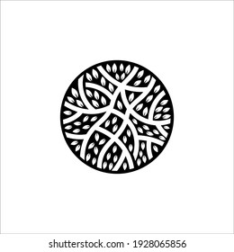 Creative abstract life root on white background vector logo design template