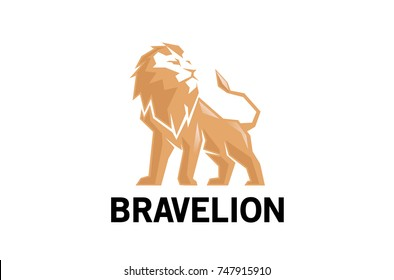 Creative Abstract Lion Logo Design Illustration
