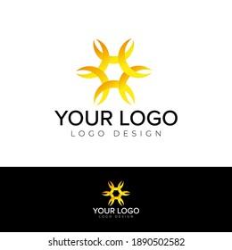 creative abstract logotype design vector template