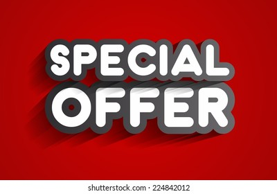 Creative Abstract Special Offer Sale Design On Background vector illustration
