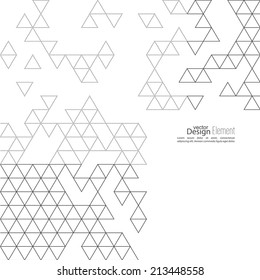 Creative abstract triangle pattern. Polygonal mosaic  background.