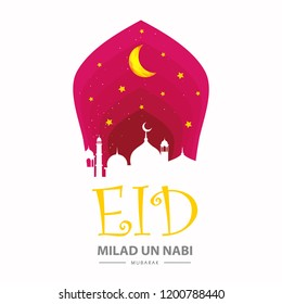 Creative abstract vector illustration of Muslim community festival Eid Milad un nabi 2018