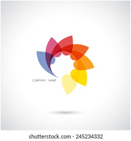 Creative abstract vector logo design template.Vector illustration.