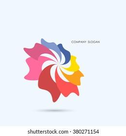 Creative abstract vector logo design template,business industrial logo icon.Vector illustration