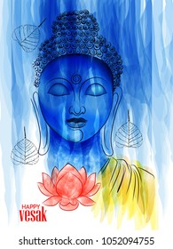 creative abstract,poster for Vesak Day or Buddha Purnima with nice and creative design illustration.