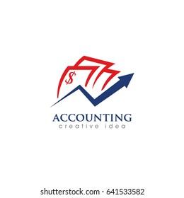 Creative Accounting Concept Logo Design Template