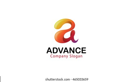 Creative Advance Colorful Glossy Letter A Logo Symbol Design