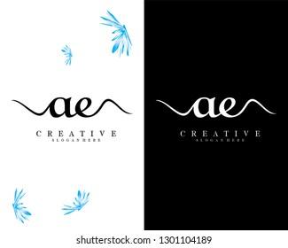 creative ae/ea logo design vector