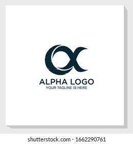 creative alpha logo template design vector, abstract logo vector
