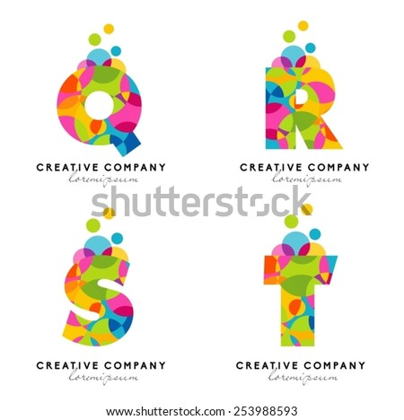 Creative Alphabet Letters Logo Vector Letters Stock Vector Royalty