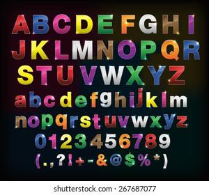 creative  alphabet metal border set for your design