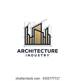 creative architecture industry, home build symbol logo design template