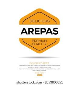 Creative (Arepas) logo, Arepas sticker, vector illustration.