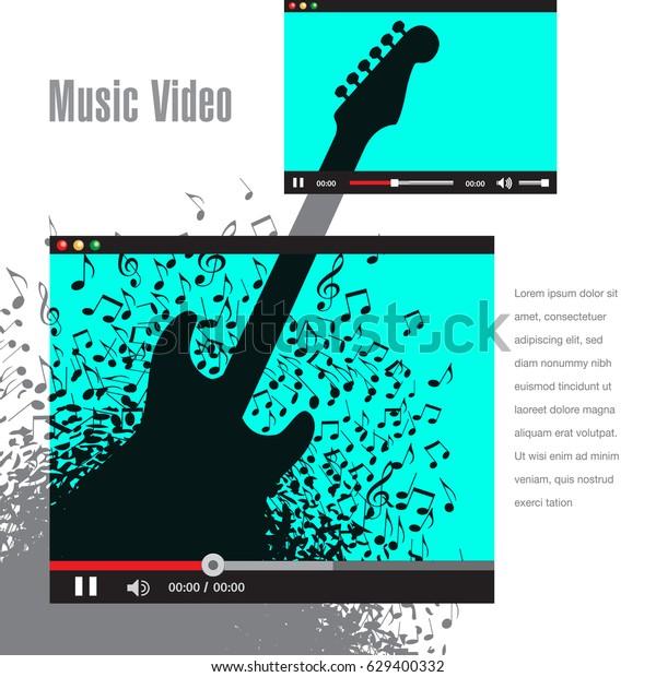 Creative Artwork Music Video Promotion Print Stock Vector (Royalty