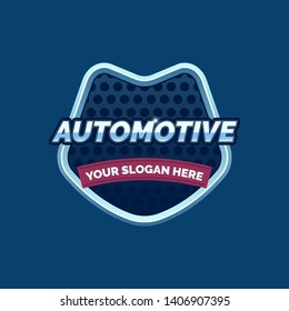 Creative Automotive Logo Design for Automotive industry. Automotive logo vector. Automotive sign illustration with Badge or Shield