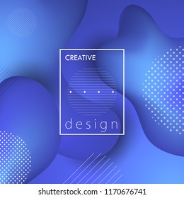 Creative background with abstract geometric over organic shape design