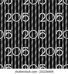 Creative background new year 2015, seamless.