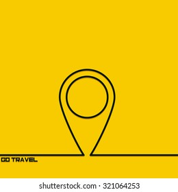Creative background with travel and tourism outline. The symbol for travel and tourism. Motivation concept. Design element. Idea.