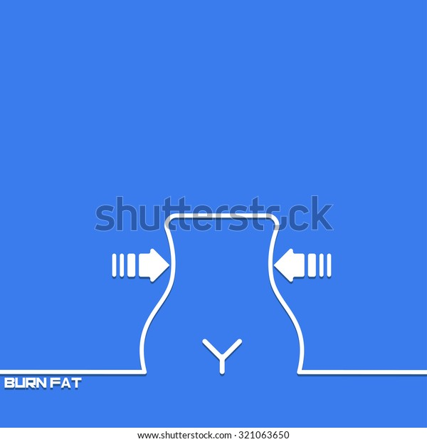 Creative Background Weight Loss Outline Symbol Stock Vector Royalty Free 321063650