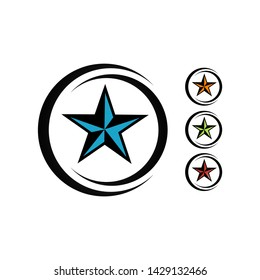 creative badge texas star vector