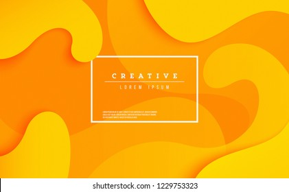 Creative banner design dynamic concept. Orange elements with fluid gradient. vector illustration for poster, web, landing, page, cover, ad, greeting, card, promotion.