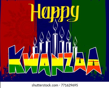 "Creative banner design for ""Happy Kwanzaa"""