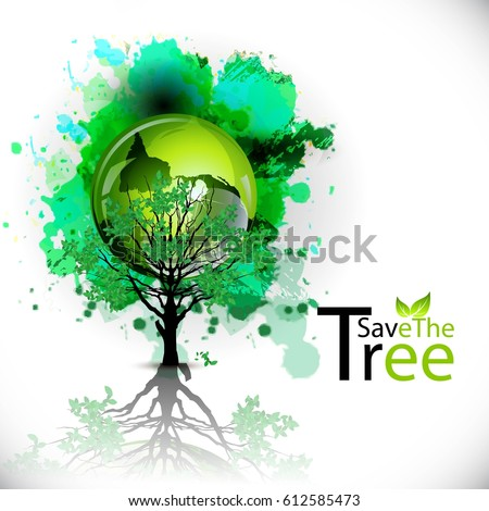 creative banner poster flyer save trees stock vector royalty free