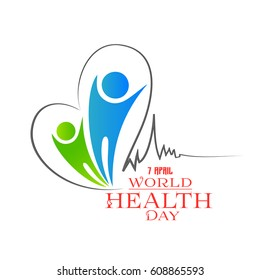 creative banner or poster for World Health Day with nica and creative design illustration, 7th of April.