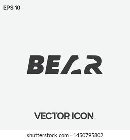 """Creative """"Bear"""" typographic vector logo. Premium quality."""