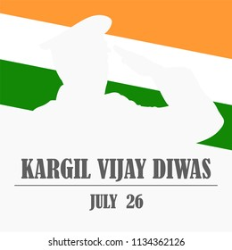 Creative beautiful abstract, banner or poster for Kargil Vijay Diwas with nice and creative design illustration.