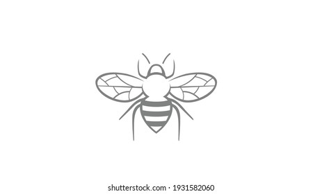 Creative Bee Insect Logo Design Vector Illustration