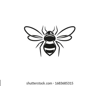 Creative Bee Lines Logo Design Vector Illustration