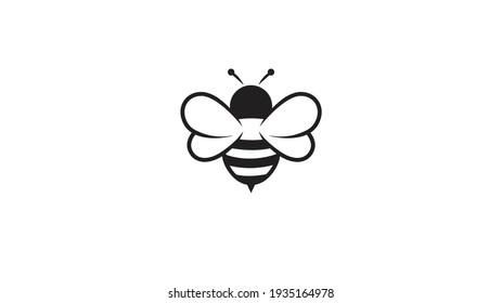 Creative Bee Lines Logo Design Vector Illustration