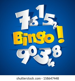 Creative Bingo vector illustration