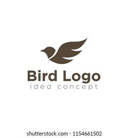 Creative Bird Concept Logo Design Template