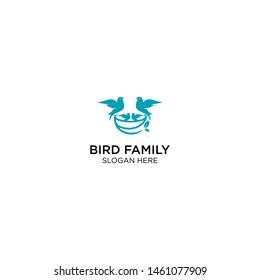 creative bird family logo template