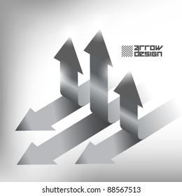 creative black and white arrow label vector design