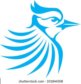 Creative Blue Jay Bird Illustration