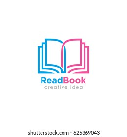 Creative Book Concept Logo Design Template