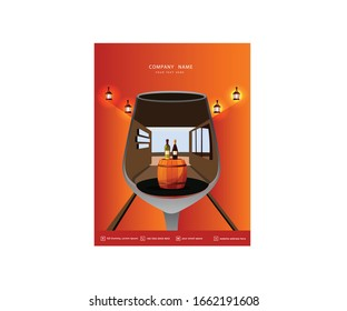 Creative book cover design commercial use eps file