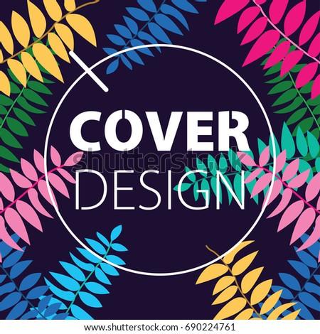 Creative Book Cover Design Illustration Abstract Stock Vector ...